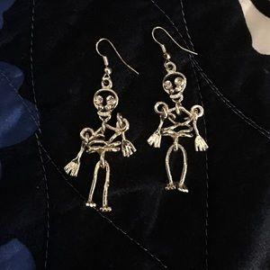 NWOT Skeleton Dangling Earrings